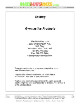 Gymnastics Products