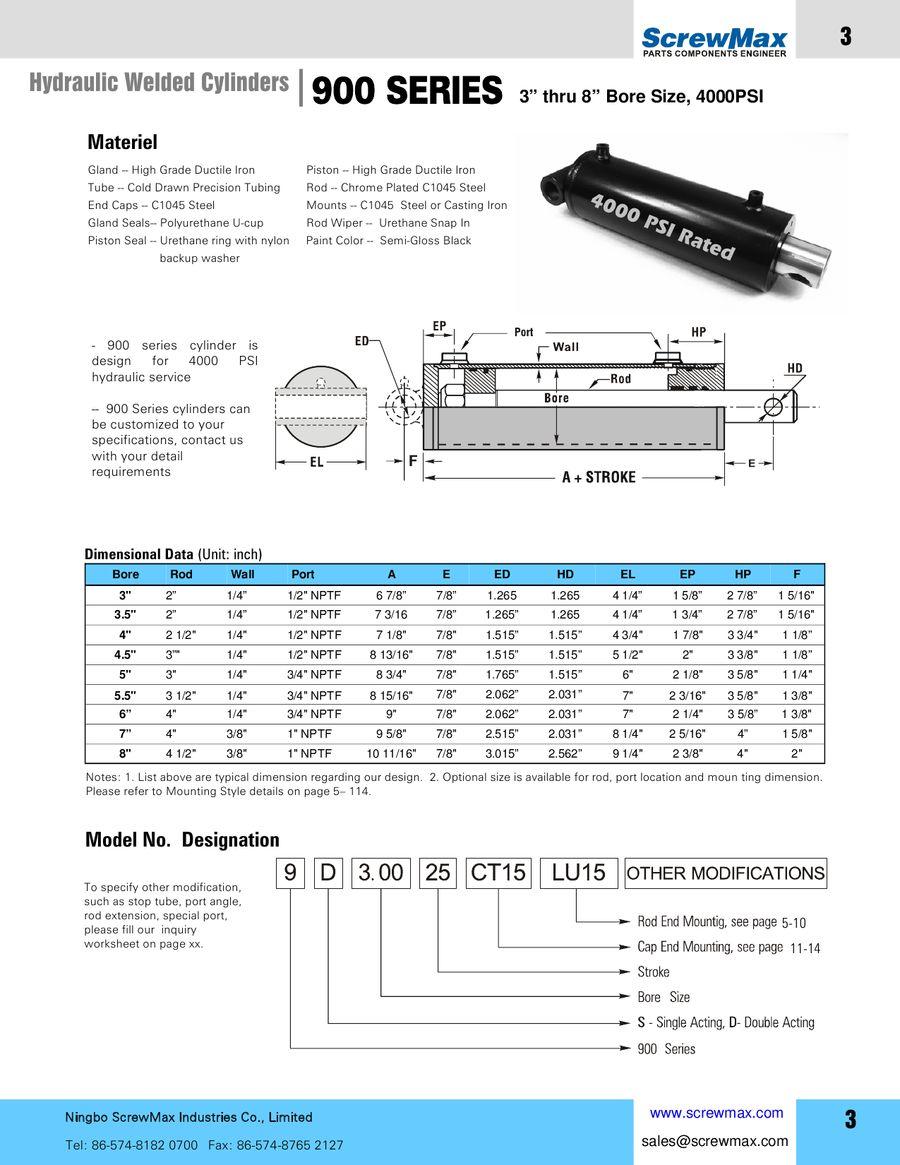 Welded Hydraulic Cylinder by ScrewMax