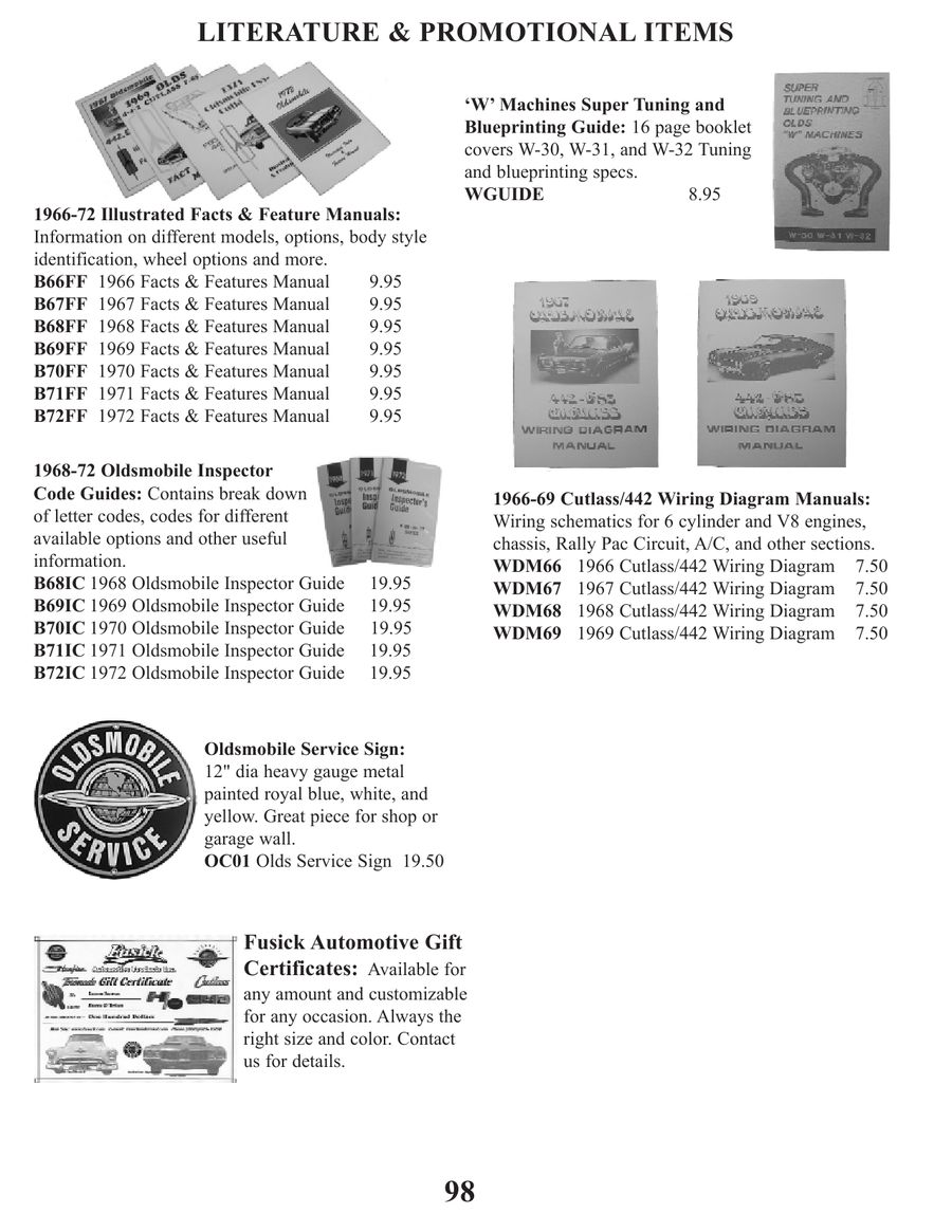 Page 101 Of Parts For 1961 Through 77 Cutlass And 442 2010 1970 Oldsmobile  442 Rally Pac Wiring Diagram