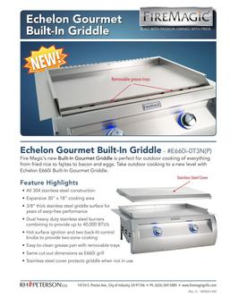 Fire Magic Echelon Gourmet Griddle 2019