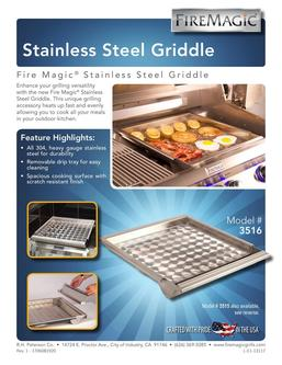 Fire Magic Stainless Steel Griddle 2017