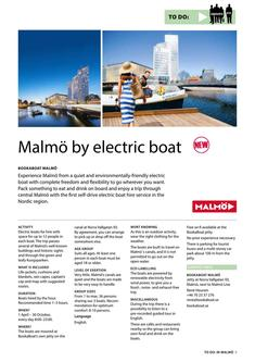 Malmö by Electric Boat 2017