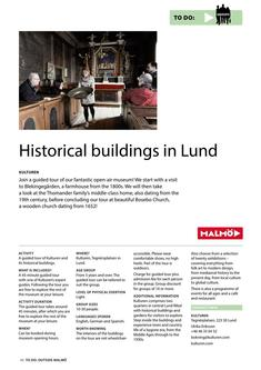 Historical Buildings In Lund 2017