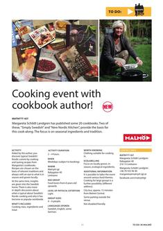 Cooking event with cookbook author 2017