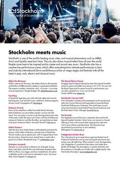 Stockholm meets music 2017