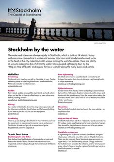 Stockholm by the water 2017