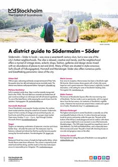 A district guide to Sodermalm 2017
