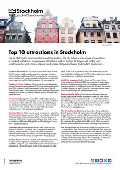 Top 10 attractions in Stockholm 2017