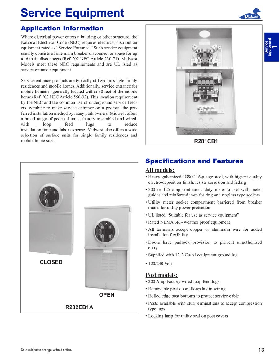 Page 11 of General Product Catalog 2008 U C Wiring Diagram on