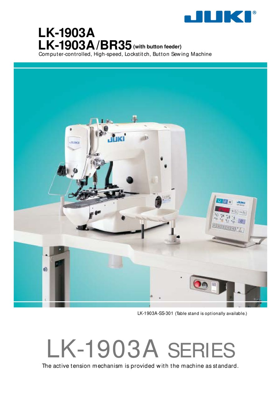 computer controlled high speed lockstitch button sewing machine rh who sells it com juki industrial sewing machine service manual Sewing Machine Manual Lift