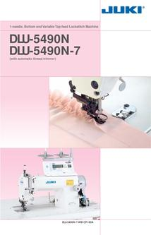 1-needle Bottom and Variable Top-feed Lockstitch Machine