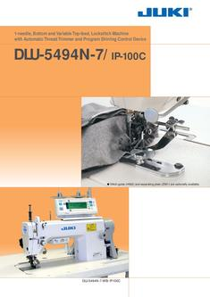 1-needle Bottom and Variable Top-feed Lockstitch Machine with Automatic Thread