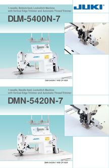 1-needle Lockstitch Machine with Vertical Edge Trimmer and Automatic Thread
