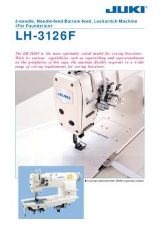 2-needle Needle-feed / Bottom-feed Lockstitch Machine