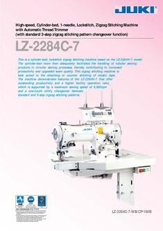 High-speed, Cylinder-bed, 1-needle, Lockstitch, Zigzag Stitching Machine