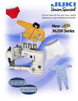 Oil-less Feed–off–the–arm Four–needle Flatseamers for Top and Bottom Coverstitch