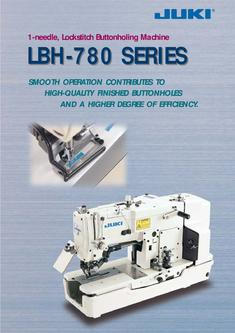 1-needle, Lockstitch Buttonholing Machine