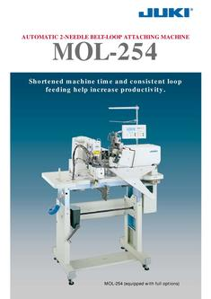 Automatic 2-needle Belt-loop Attaching Machine