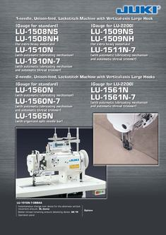 1-needle, Unison-feed, Lockstitch Machine with Vertical-axis Large Hook
