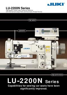 High-speed, 1-needle, Unison-feed, Lockstitch Machine with Vertical-axis Large