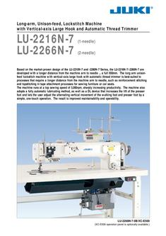Long-arm, Unison-feed, Lockstitch Machine with Vertical-axis Large Hook and Auto