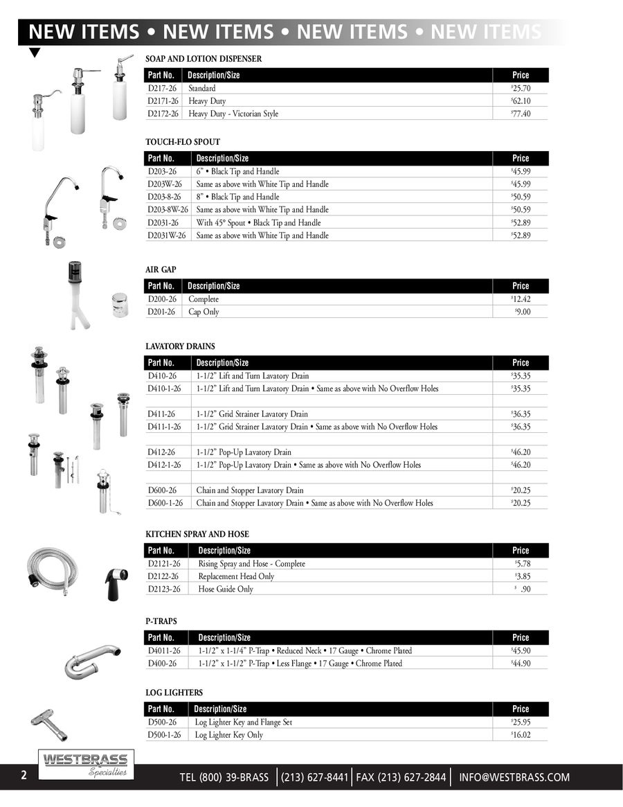 westbrass specialties by Westbrass Faucets