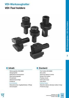 VDI-Tool holders for CNC lathes 2015/2016
