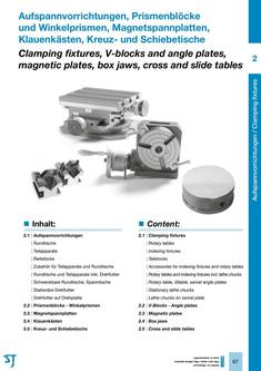 Rotary tables, indexing fixtures, tailstocks, stationary lathe chucks 2015/2016
