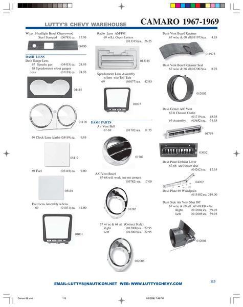 camaro new used parts catalog chrome camaro lights  html