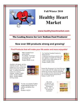 Heart-Healthy Low-Sodium Food Products