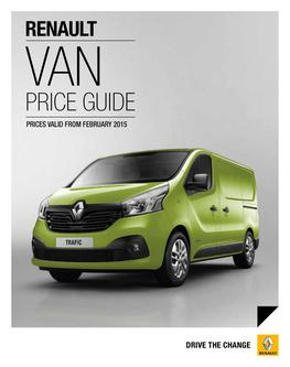 Van Price Guide February 2015