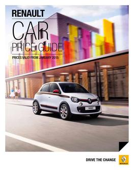 Car Price Guide January 2015