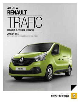 Renault Traffic Range January 2015