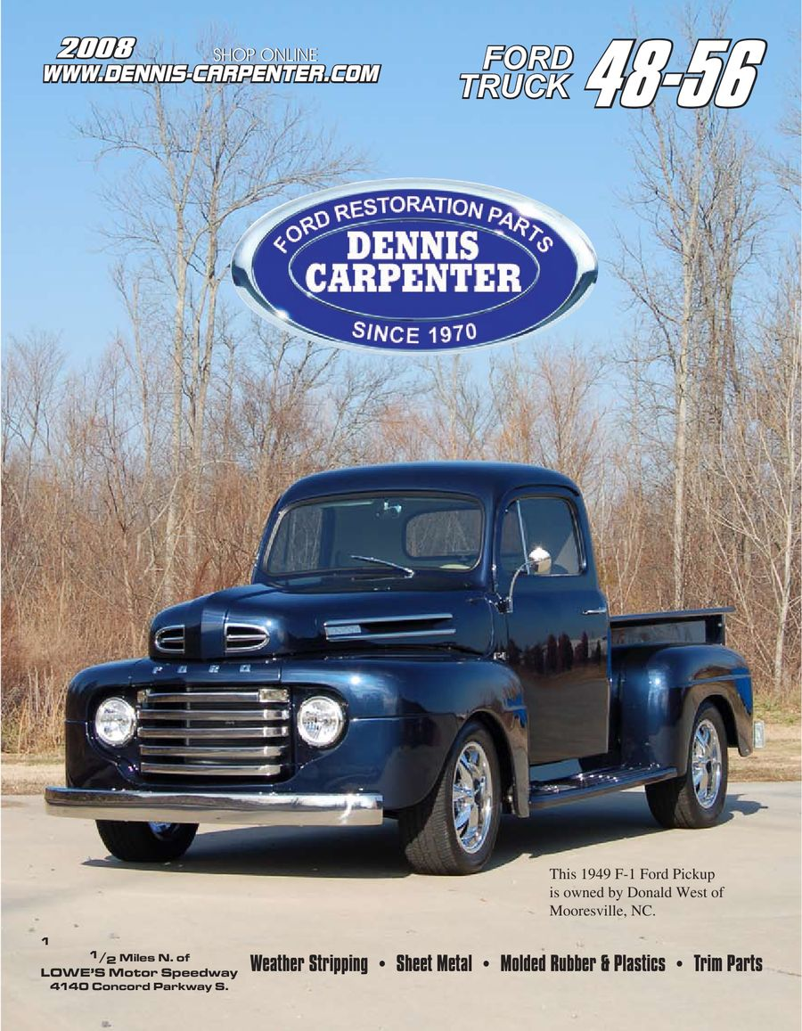 1948 56 Ford Trucks Parts By Dennis Carpenter And Cushman 1955 F100 Running Boards Restorations