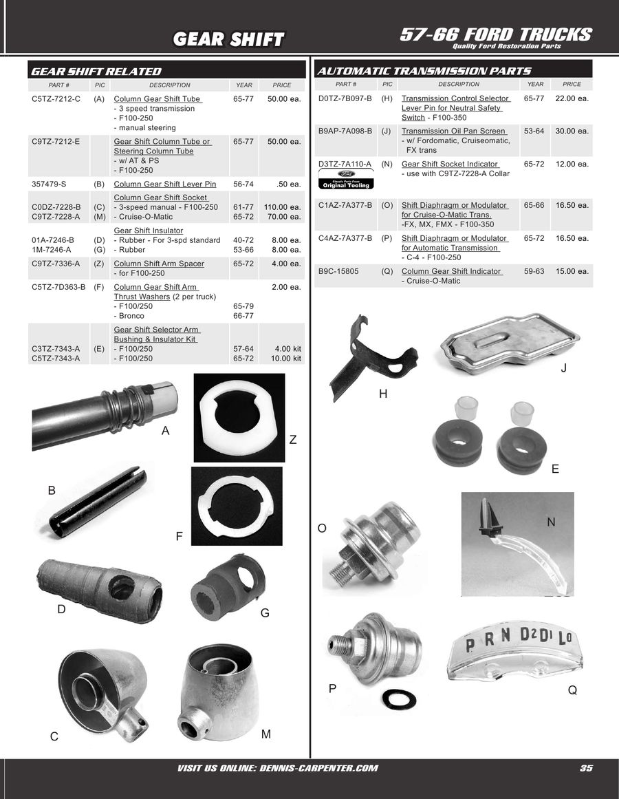 Page 35 of 1957-66 Ford Trucks & Econoline Parts