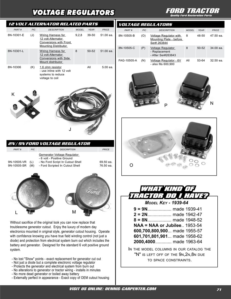 Page 71 Of Ford Tractor Restoration Parts 2008 Jubilee Coil Wiring 12v P 128