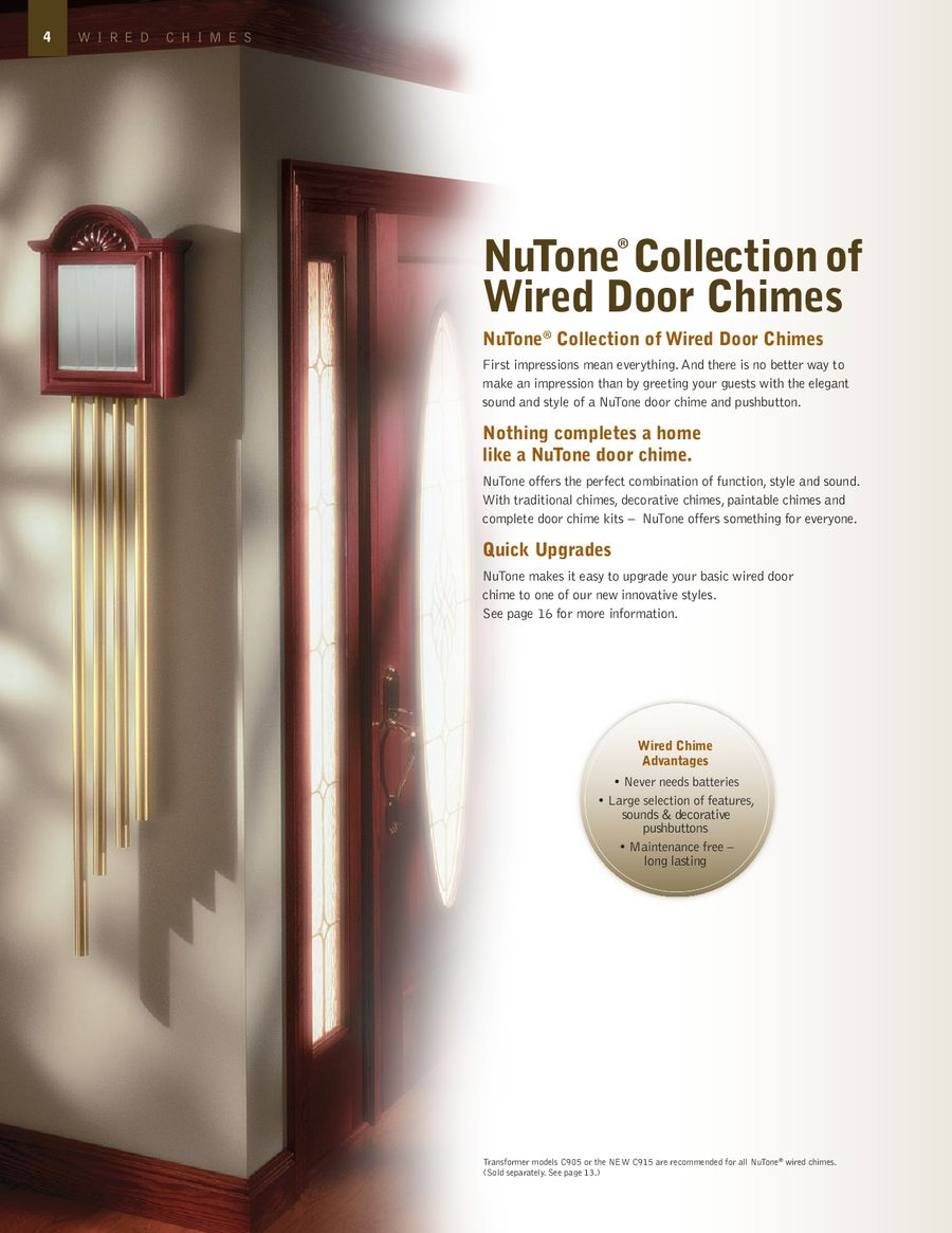 Door Chimes Nutone By Broan Musical Chime Wiring Diagram P 1 20