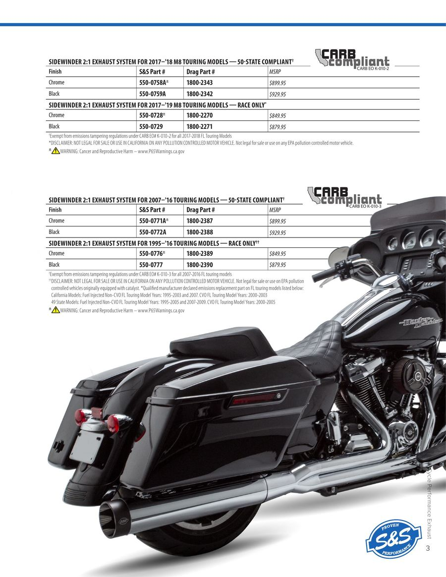2019 Performance Exhaust by S&S Cycle