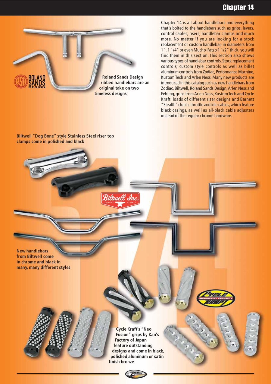 Handlebars, Clamps, Risers, Controls & Cables 2013/2014 by