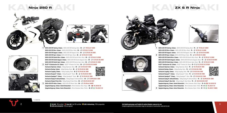 2016 Kawasaki Accessories By Sw Motech