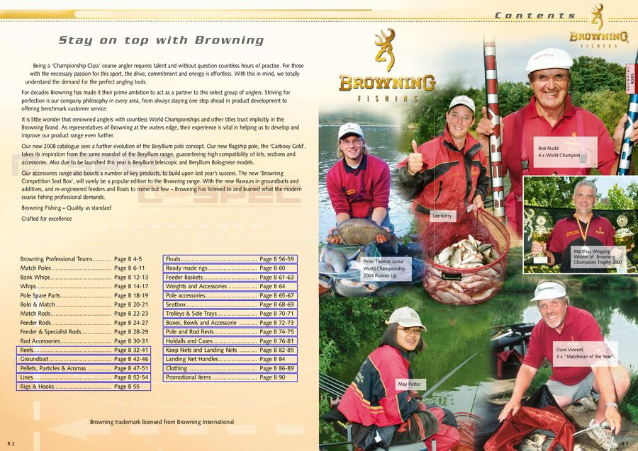 Browning Reels & Accessories 2008 by Zebco Sports Europe