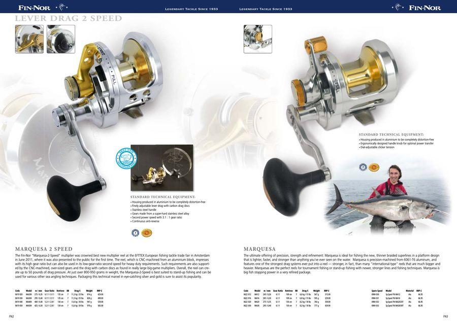 Fin Nor reel repair parts spool Mega lite 60