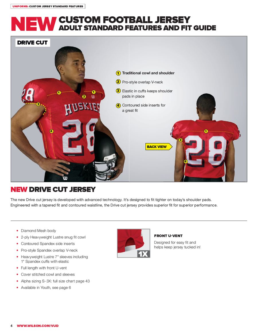 2013 Football Uniforms And Equipment By Wilson