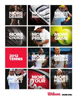 2012 Tennis Dealer Workbook