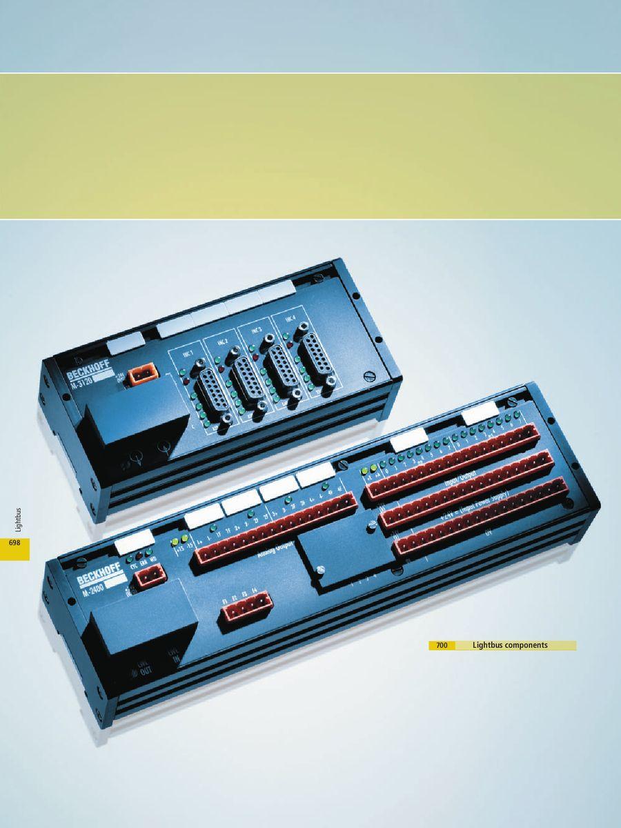 M-1400 004,M1400004 Beckhoff Fiber Input Output Module