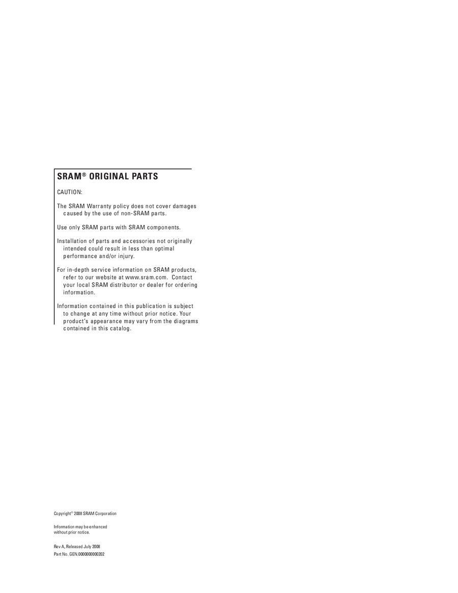 Rock Shox Reba Rebound Damper Sealhead Kit 2005-2008 11.4311.117.000
