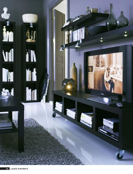 page 46 of tv solutions and living room storage. Black Bedroom Furniture Sets. Home Design Ideas