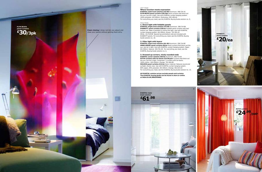 Curtain And Panel Solutions 2010 By Ikea Uk