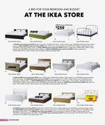 Ikea single bed frame in ikea catalogue 2009 by ikea australia for Ikea frame sizes australia