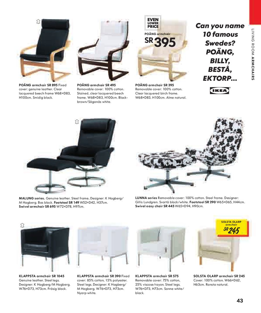Swell Page 43 Of Ikea Catalogue 2008 Inzonedesignstudio Interior Chair Design Inzonedesignstudiocom